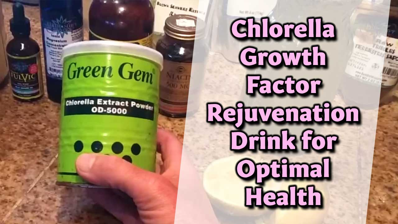 Chlorella Growth Factor Rejuvenation Drink for Optimal Health
