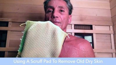 Using A Scruff Pad To Remove Old Dry Skin