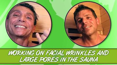 Working On Facial Wrinkles And Large Pores In The Sauna
