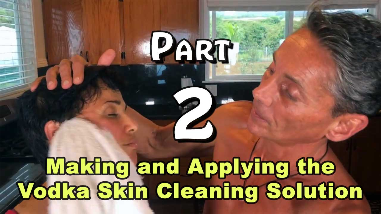 making-Making and Applying the Vodka Skin Cleaning Solution Part 2-applying-the-vodka-skin-cleaning-solution-earther-academy-robert-cassar-vimeo