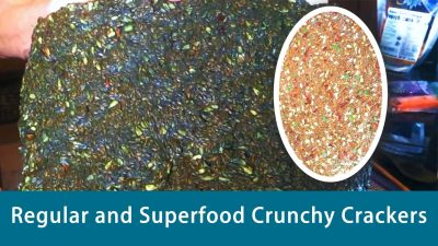 Regular and Superfood Crunchy Crackers