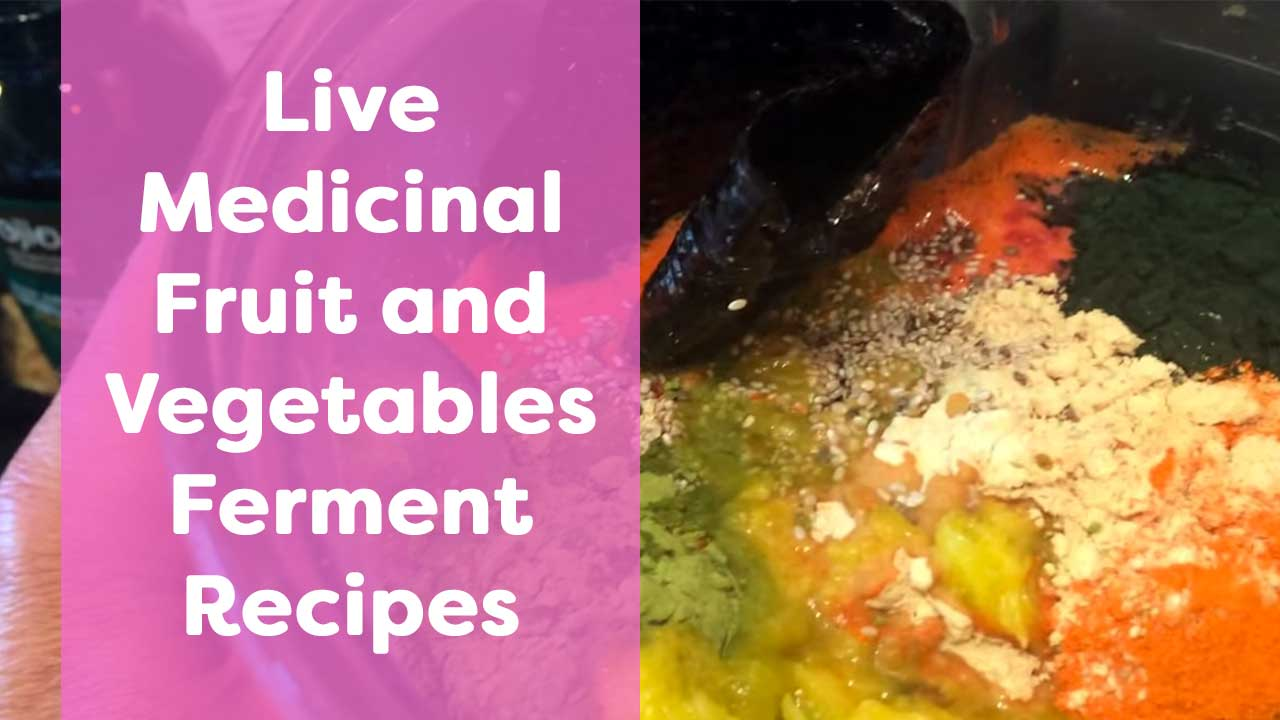 Live Medicinal Fruit and Vegetables Ferment Recipes