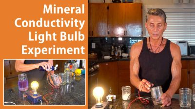 Mineral Conductivity Light Bulb Experiment