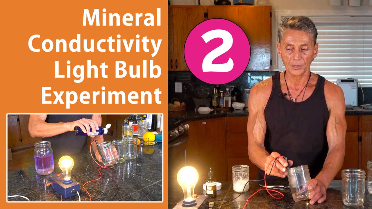 Mineral Conductivity Light Bulb Experiment Part 2