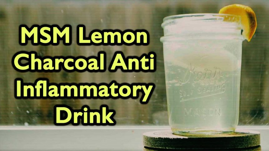 MSM Lemon Charcoal Anti Inflammatory Drink