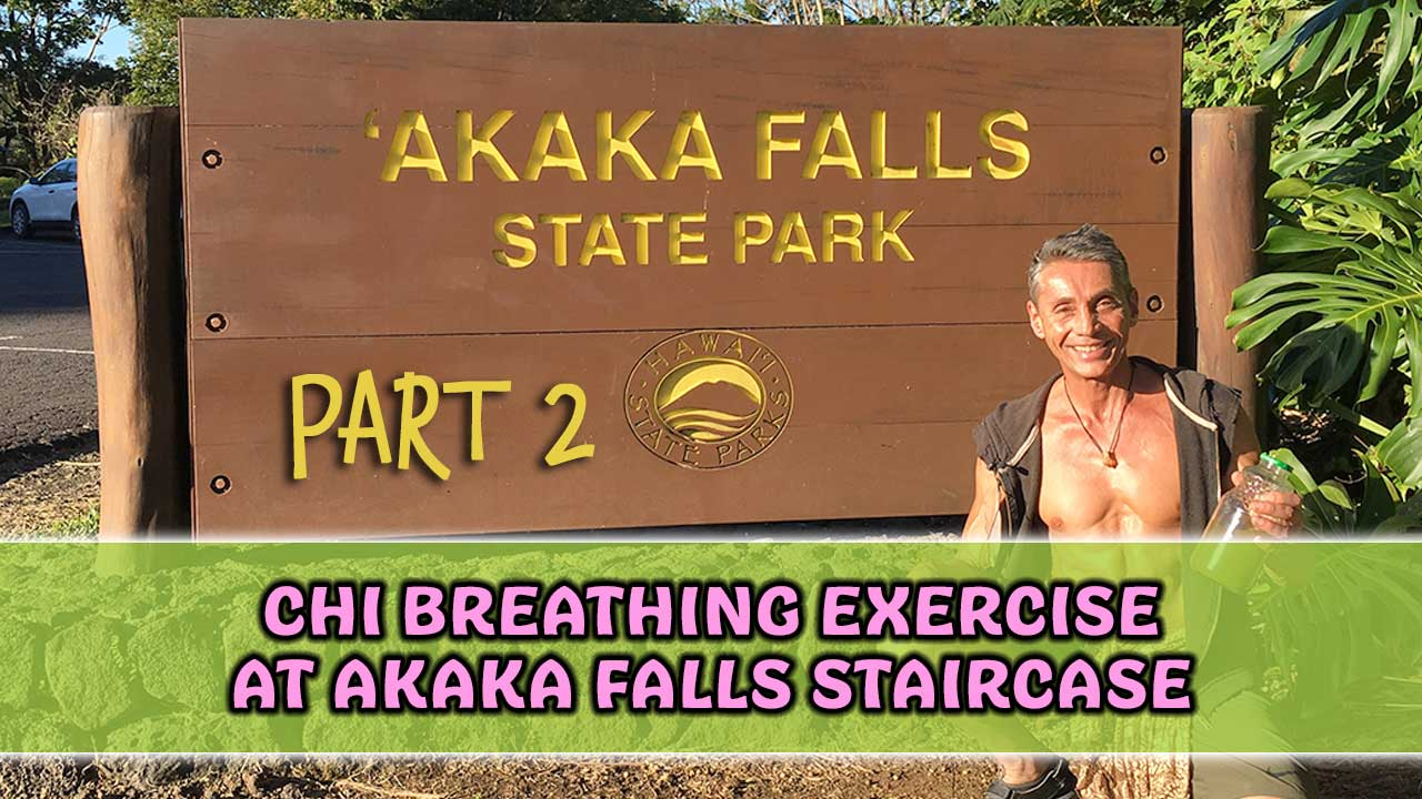 Chi Breathing Exercise at Akaka Falls Staircase