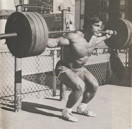 Dr. Franco Columbu Squatting