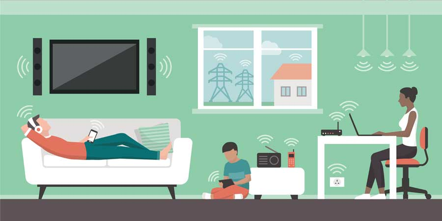 Electromagnetic fields in the home and sources