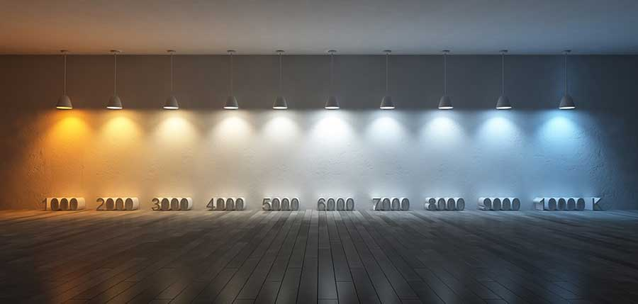 3Ds rendered image of 10 hanging lamps which use different bulbs